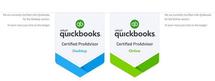 Did you know we're certified in both Desktop and Online QuickBooks?